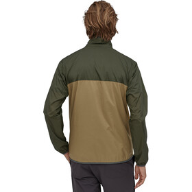 Patagonia Houdini Snap-T Pullover Hombre, Oliva/beige
